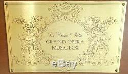 La Musica D'Italia Grand Opera Inlaid Music Box Five Cylinder Franklin Mint RARE