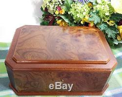 Large Music box Reuge Romance Jewelry box 2 tier loads of room Made in Italy