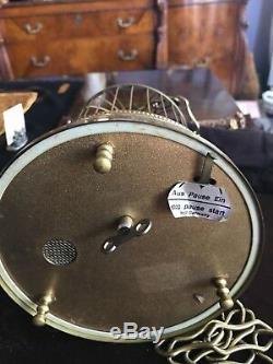 Large Reuge Style WEST GERMAN c 1950s Singing Automaton Bird Cage Music Box