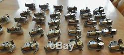 Lot of 32 Vintage Swiss Reuge Music Box Wind Up Movements Mechanisms With Keys +