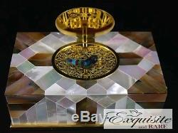 NEW REUGE Mother of Pearl Singing Bird Box Automaton VIDEO