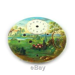Original DIAL for Swiss REUGE Fountain Music Box Automaton Alarm Watch, Parts