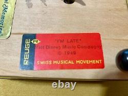 RARE Disney Reuge Alice In Wonderland Music Box Swiss Movement