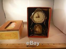 RARE Vintage Rensie/Reuge Spinning Ballerina Beau Morning Clock & Music Box