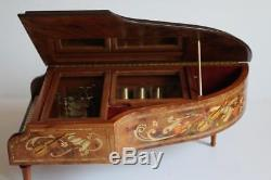 REUGE INTERCHANGEABLE CYLINDER MUSIC BOX GRAND PIANO by HOUSE of FABERGE Mozart