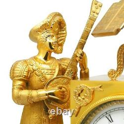 REUGE Le Troubadour Hour-Repeating Musical Clock, 50-Note Music Box, 1970s