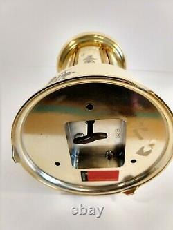 REUGE Lipstick Cigarette Music Box/Carousel Dispenser Made in Switzerland WORKS