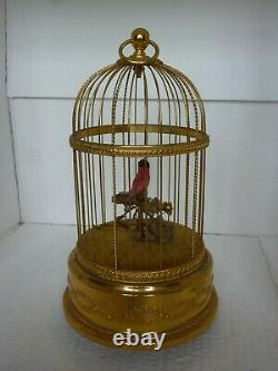 REUGE MUSIC Sainte-Croix, Switzerland. Caged singing automated bird musical box