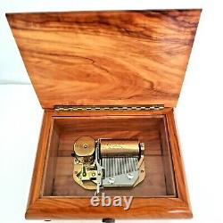 REUGE Music Box 36-Note Swiss Made Mechanical Movement Music of the Night