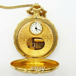 REUGE Music Box Pocket Hand Winding Watch Working Vintage Rare