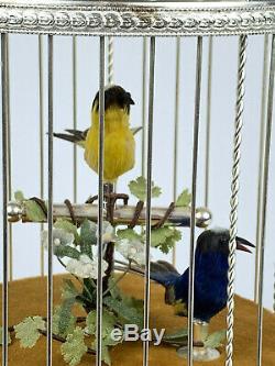REUGE Swiss Automaton SINGING BIRDS BIRDCAGE Voliere De La Cour Music Box RARE