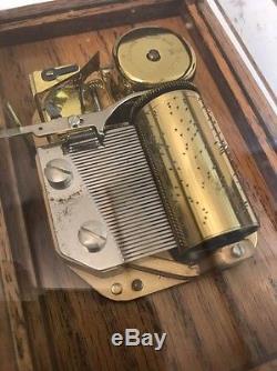 REUGE Vintage Music Box Beethoven Fur Elise 36 Note Switzerland Swiss Mov't