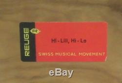 REUGE WOOD MUSIC JEWELRY BOX DANCING COUPLE BALLERINA Hi Lili, Hi Lo