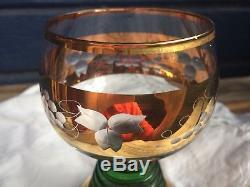 REUGE vintage music wine glass, Trink Brüderlein Trink, Swiss musical movement
