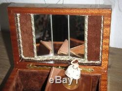 Rar Ballerina Swiss Reuge Walzenspieldose Spieluhr Vintage Cylinder Music Box