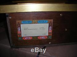 Rare Diorama Automaton Mirror Magique Reuge Music Box, Dancing Figures Must C