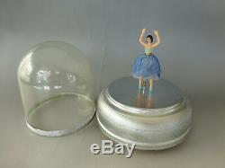 Rare Larger Size Model Vintage Swiss Reuge Dancing Ballerina Music Box Serviced