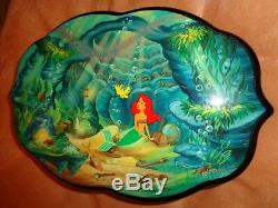 Rare Limited Edition Disney Reuge Music Box The Little Mermaid 3 songs 72 note