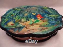 Rare Limited Edition Disney Reuge Music Box -The Little Mermaid 3 songs/72 notes