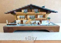 Rare Reuge 3/72 Deluxe Swiss Chalet Music Box, 1-Owner, Original Box, See video