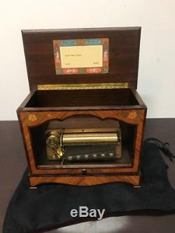 Rare Tunes Reuge Upright Music Box 72 Notes
