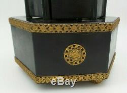 Rare Vintage 1940s Swiss REUGE Lipstick/Cigarette Holder Carousel Music Box