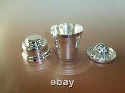 Rare Vintage France Sterling Silver Musical Juicer Cup Swiss Reuge Music Box