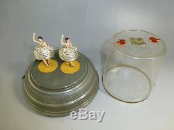 Rare Vintage Pre Reuge Double Dancing Ballerina Music Box (watch The Video)