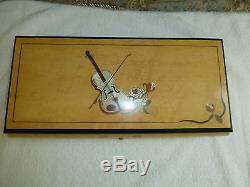 Rare Vintage Reuge Interchangeable Music Box 50 Notes 10 Songs (WATCH VIDEOS)