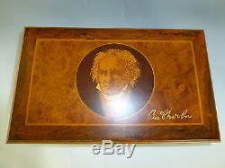 Rare Vintage Reuge Music Box 72 / 3 Beethoven Edition Burled Walnut Wooden Case
