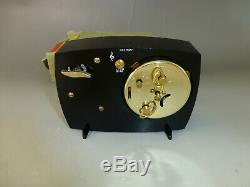 Rare Vintage Reuge Music Box Musical Mechanical Wind Up Alarm Clock New In Box