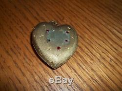 Rare Vintage Silver Reuge Music Box Heart Pendant Working St Croix Swiss