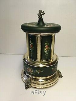 Rare Vintage Swiss REUGE Cigarette Holder Carousel Music Box The Blue Danube