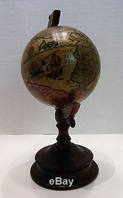 Rare Wooden World Globe Reuge Music Box 10 Tall Swiss Movement Italy No Reserve