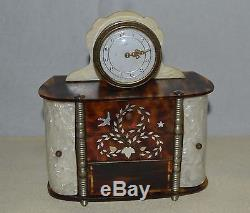 Rare music box automaton ballerina Reuge Swiss clock bakelit mid century vintage