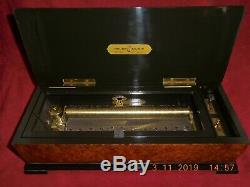 Reuge 144 Note American Bicentennial Music Box Chimes Of Glory Extremely Rare