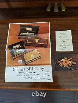 Reuge 144 Note Music Box Sublime Harmony Chimes Of Liberty Ltd Ed 3 songs