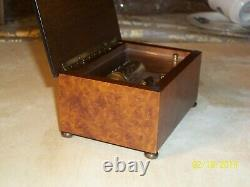 Reuge 36 Note Music Box Beautiful Condition Brass Inlay Rare Style