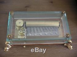 Reuge 3/72 Walzenspieluhr Dauphin Delphinfüssen swiss cylinder music box vintage