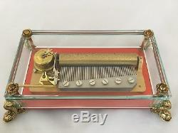 Reuge 3 Song 72 Note Crystal Glass Music Box, Eine kleine Nachtmusik, Swiss