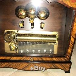 Reuge 3 Song 72 Note Swiss Cylinder Music Box Strauss & Ivanovici
