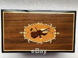 Reuge 4 song 50 note music box, plays Godfather, Love Is A Many Splendored Thing