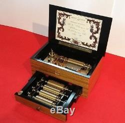 Reuge 5 Cylinder Interchangeable Music Box (Watch Video)