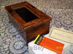 Reuge 72 Note Music And Jewelry Tray New Custom Made One Of A Kind