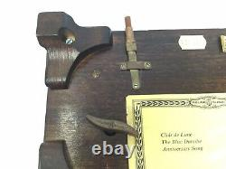 Reuge 72 Note Music Box Plays 3 Songs Clair De Lune Blue Danube Anniversary Song