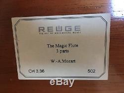 Reuge Auberson 3.36 Music Box 1/36 Walzen Spieluhr 3 Melodien Mozart Zauberflöte
