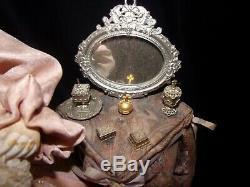Reuge Automaton La Couqette Porcelain Music Box Signed Le Nombre D'Or RARE