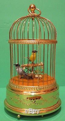 Reuge Automaton Singing Bird Cage 11471 (Two Birds) Excellent Condition