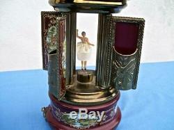 Reuge Ballerina Musical Carousel Lipstick Holder Plays The Blue Danube