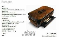 Reuge Baroque 15 Songs, 5 Interchangeable Cyl. Music Box Limited Version of 75